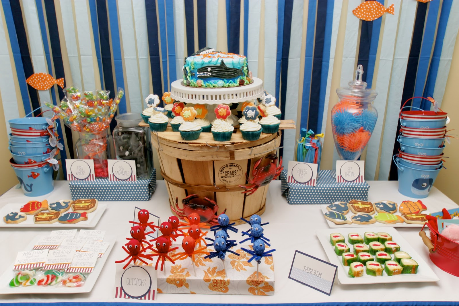 Fine Cupkates Event Design Under The Sea Birthday Bash Largest Home Design Picture Inspirations Pitcheantrous