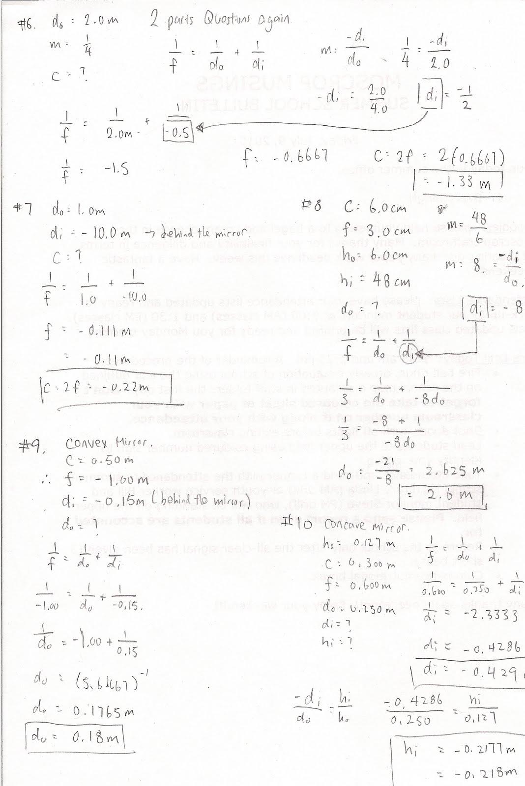 Physics 11: Wave Unit