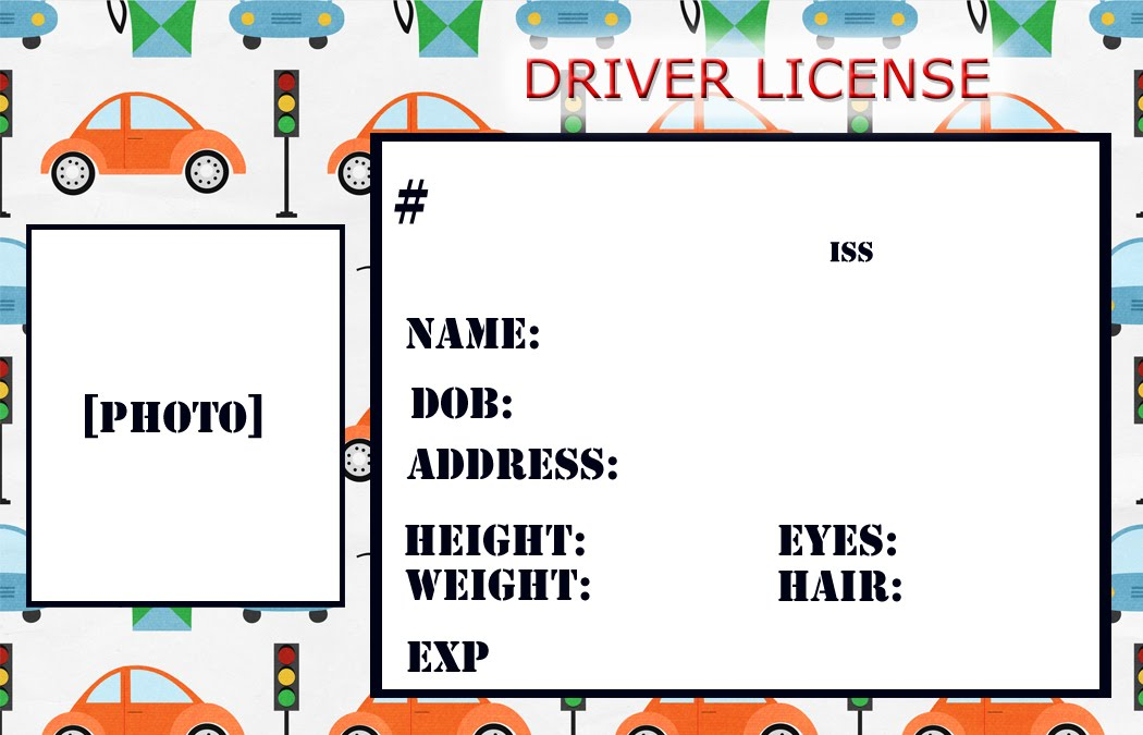 id template for kids kids
