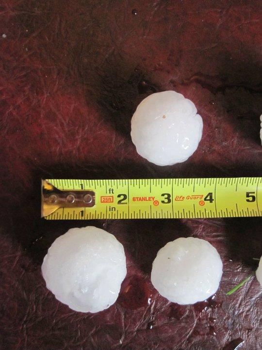 Summer Hail Storm In Bozeman
