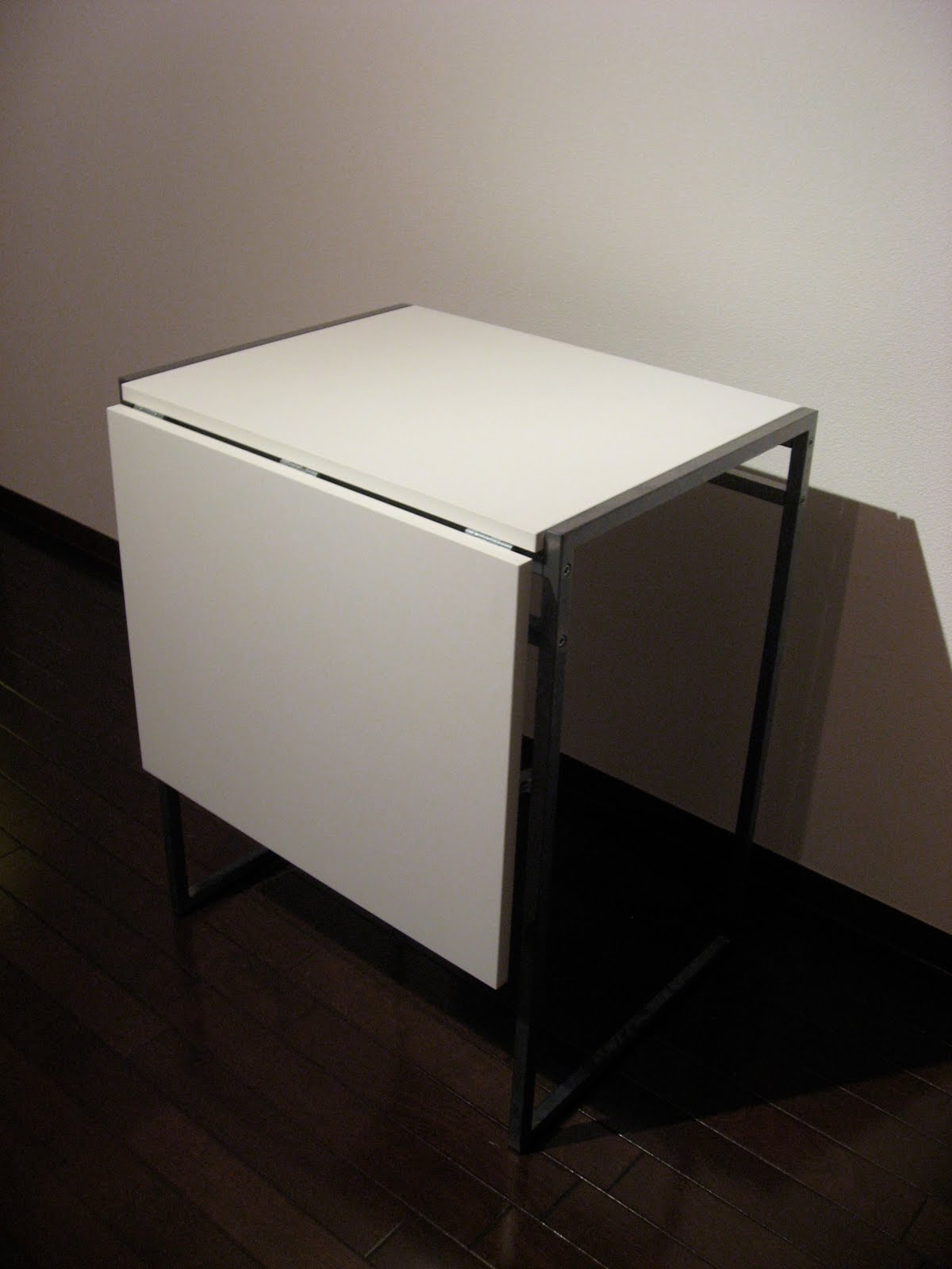 White Fold Down Leaf Table Ikea