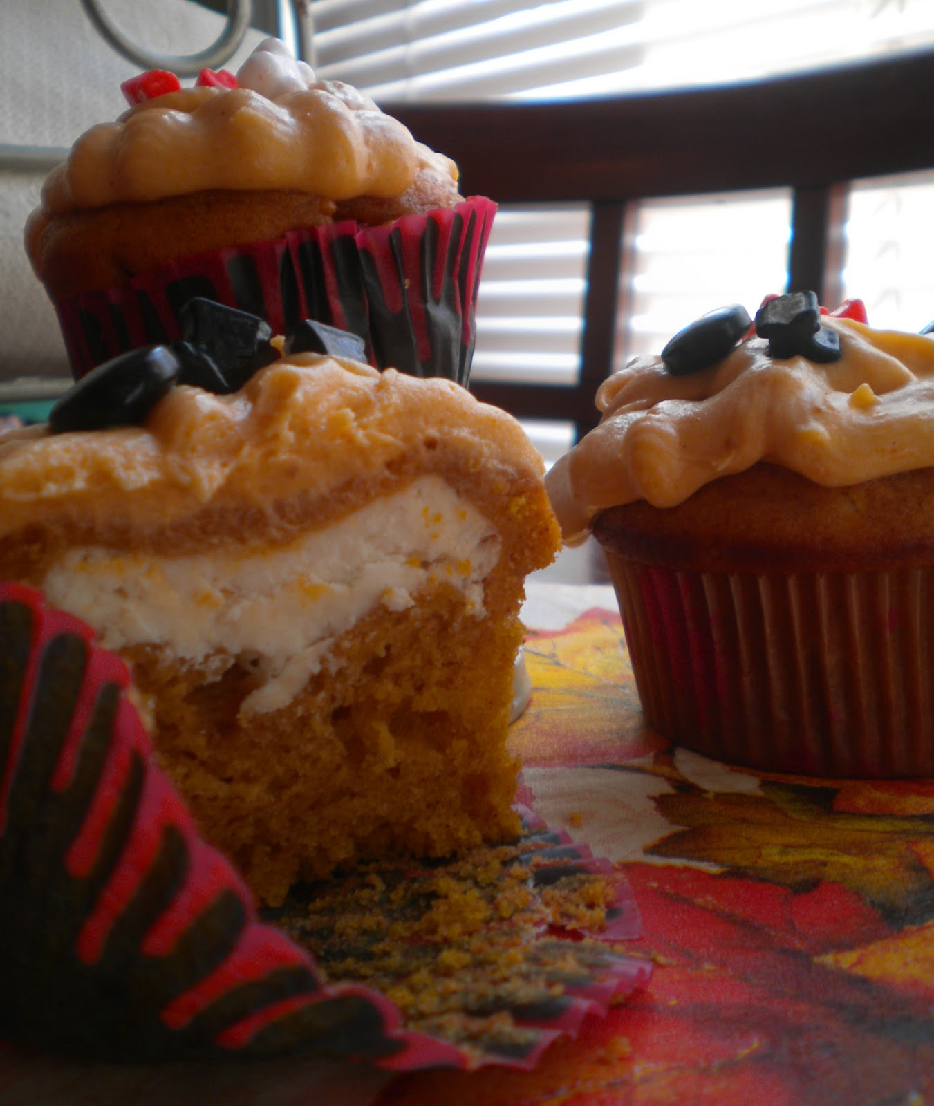 RECIPE: Pumpkin Cupcakes With Cream Cheese Filling And