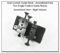 CP1033c: Dual Custom Guide Block - Assembled from Two Single Custom Guide Blocks - Assembled View Rigid Version