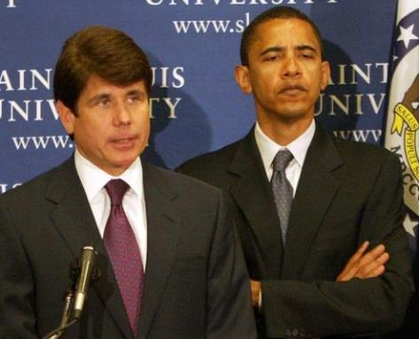 """This is not the Blago I knew"" claims  poker-faced Obama"
