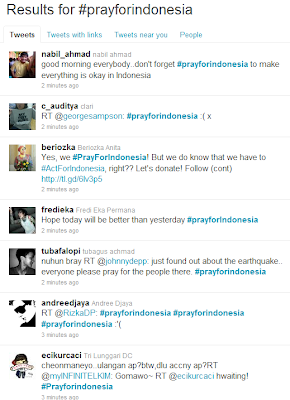#prayforindonesia Become Worldwide Trending Topic on Twitter