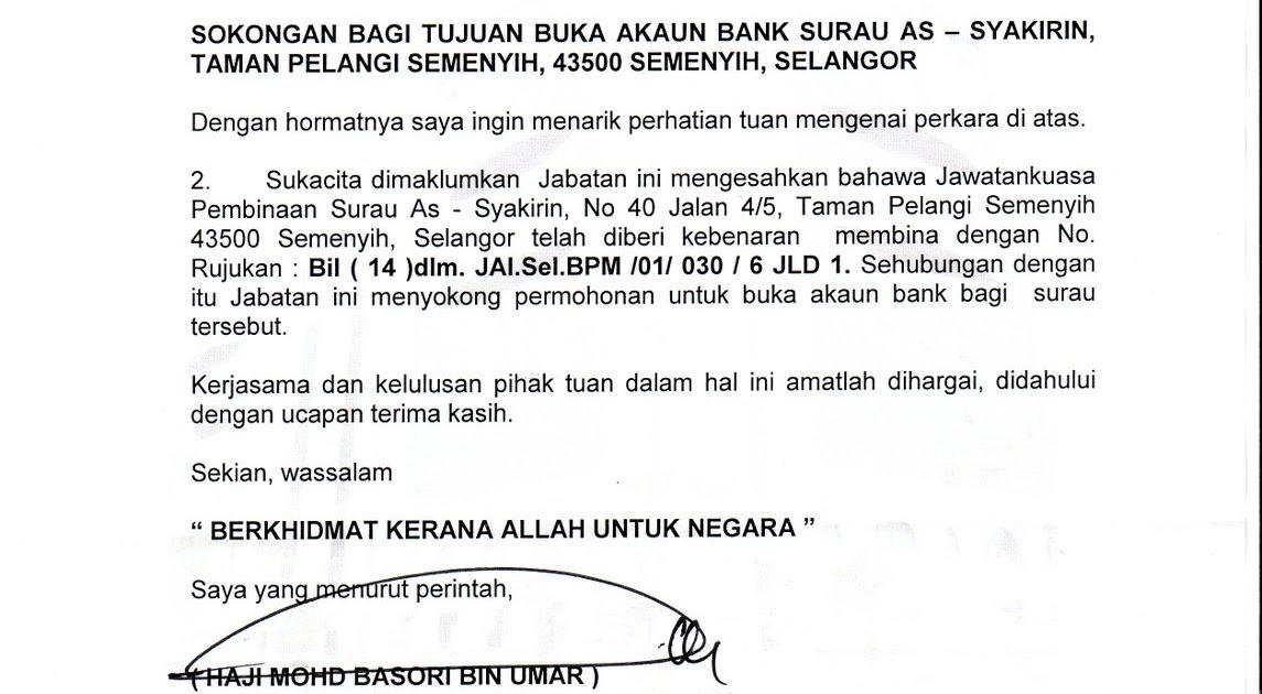 Contoh Surat Rasmi Penutupan Akaun Bank Spooky H