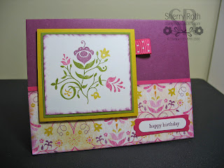Sizzix Pop-Up Look Here Die card