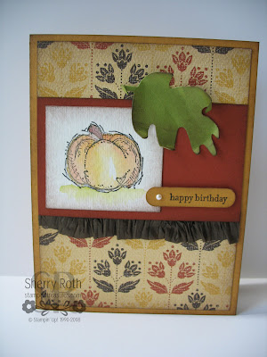 Autumn Harvest Birthday Card
