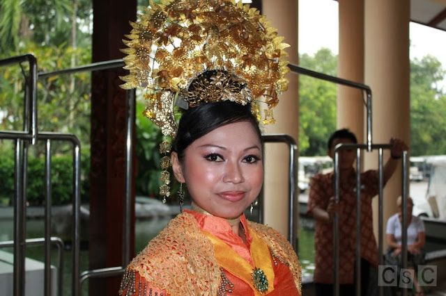 Indonesian local traditional dancer