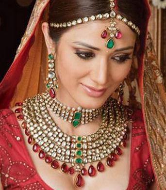 Red Green Pakistani Bridal Jewelry Design Pakistani Fashion