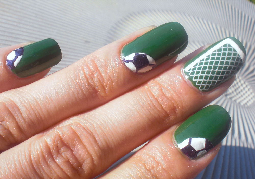Concrete and Nail Polish: Soccer Nail Art