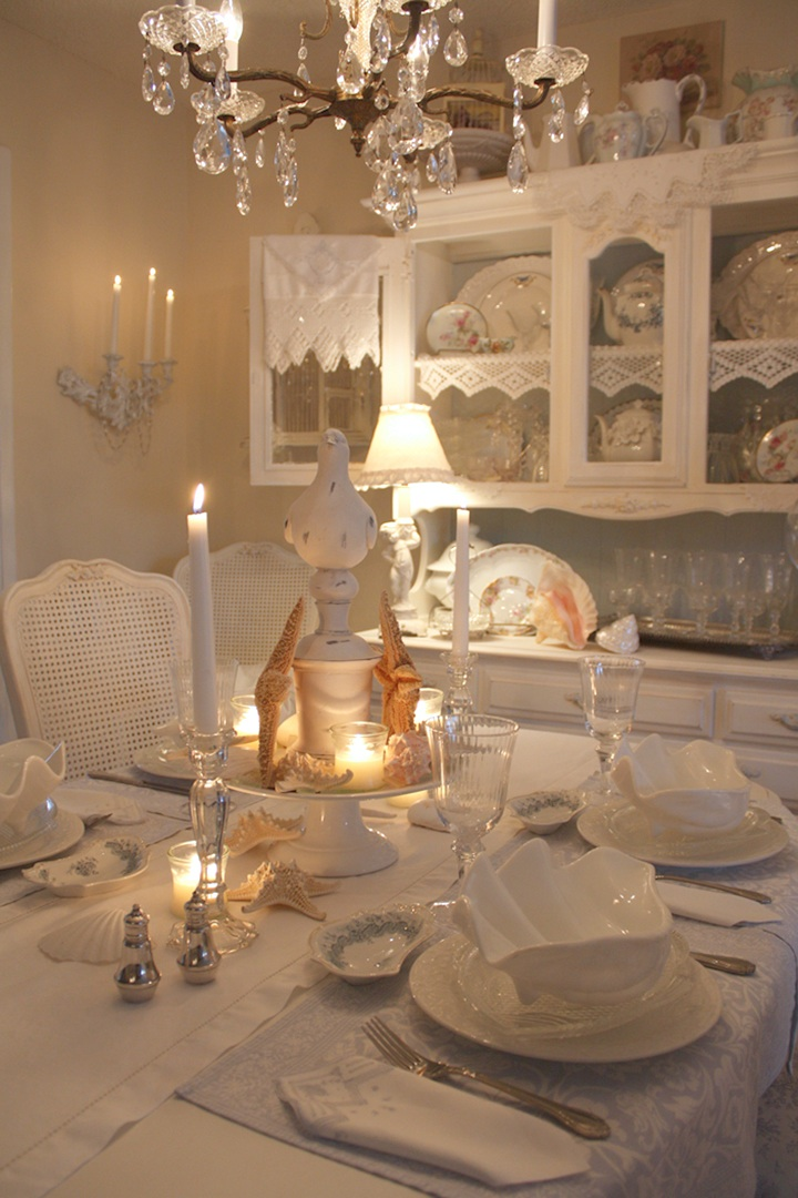 Romantic Shabby Chic Dining Room