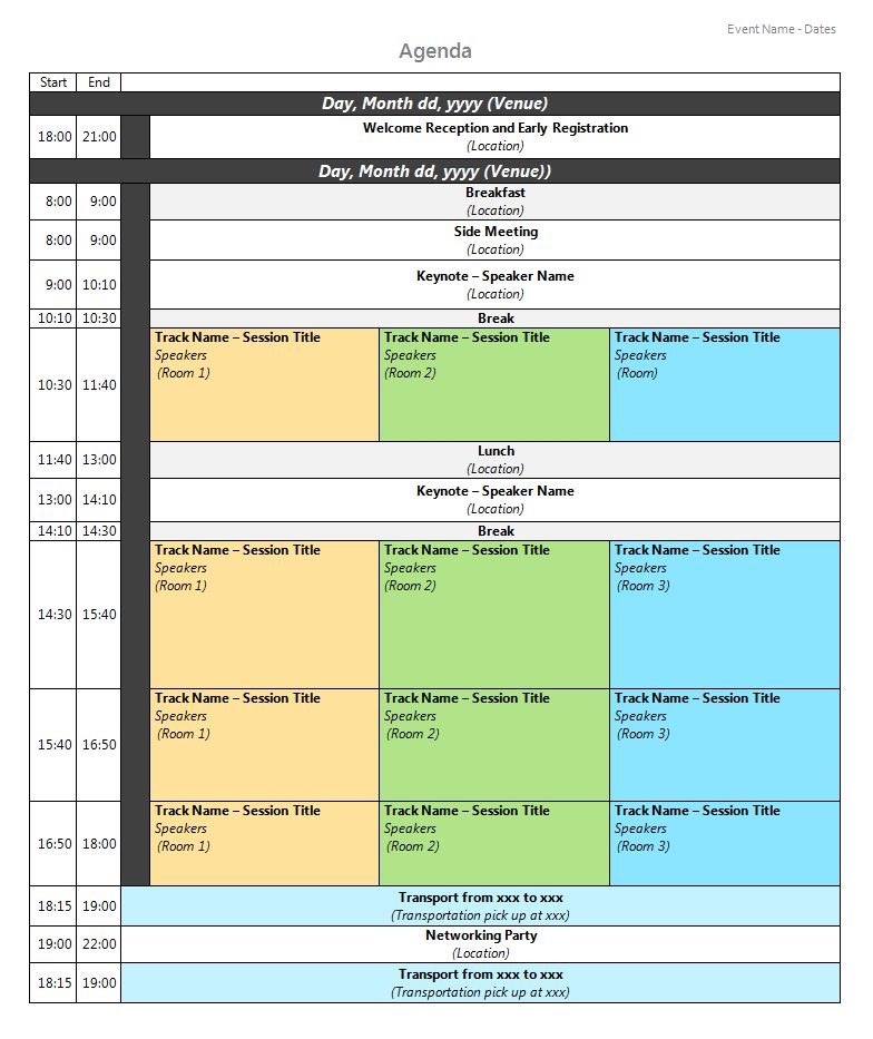 creative meeting agenda template