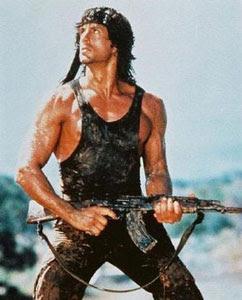 Sylverter Stallone como Rambo
