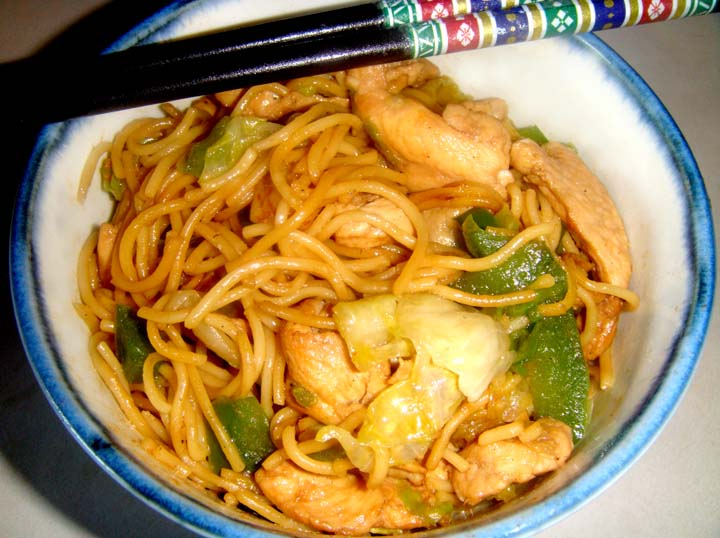 Chinese Crispy Noodles with Chinese and Vegetables