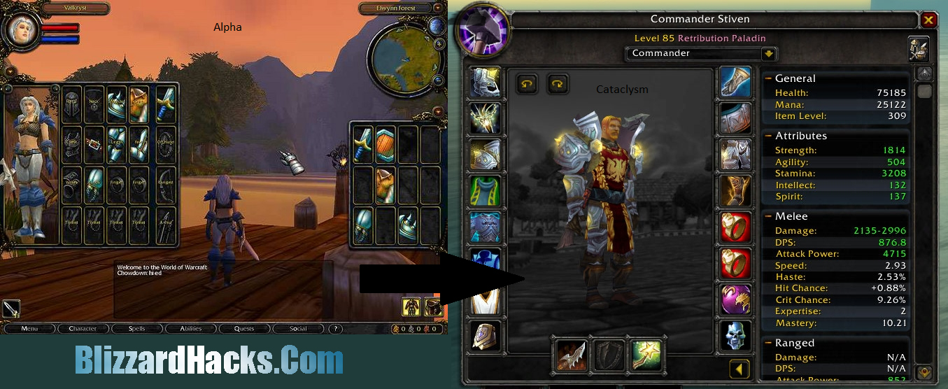 See your wow character online
