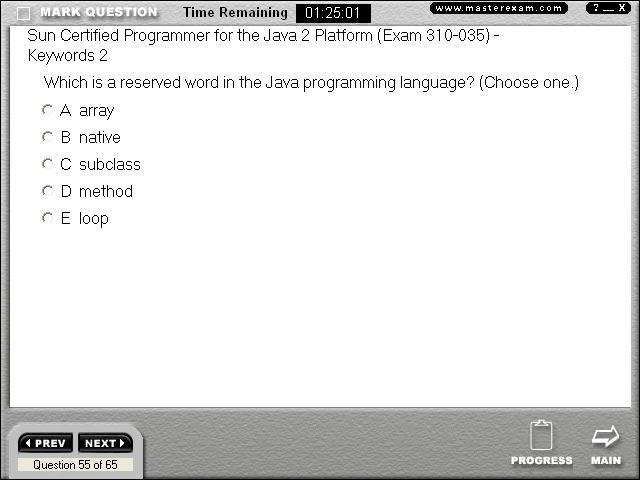 Java Programming Cs401 Screen Shots From Scjp Certification Exam