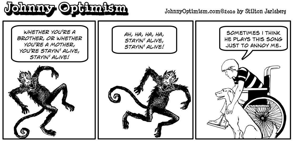 Johnny Optimism, johnnyoptimism, helper monkey, bee gees