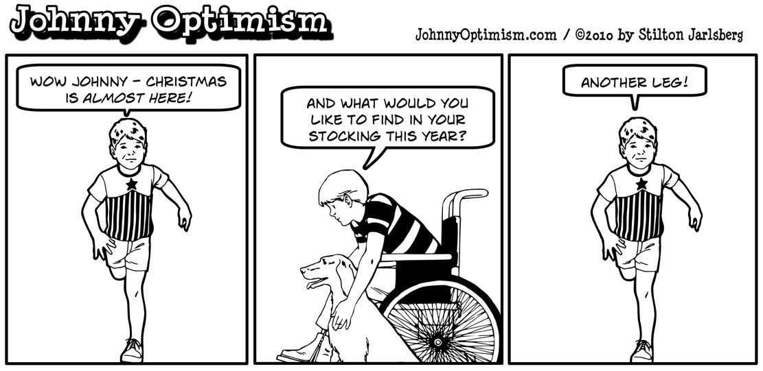 Johnny Optimism, johnnyoptimism, amputee, christmas