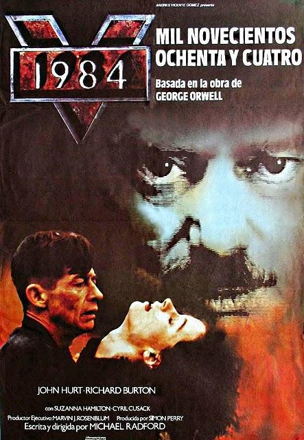 Cartel de la adaptación cinematográfica de la novela de George Orwell «1984»