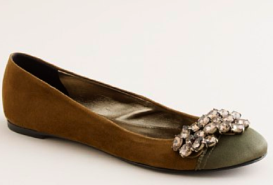7f556f321 In These Shoes  J.Crew crystal wing ballet flats