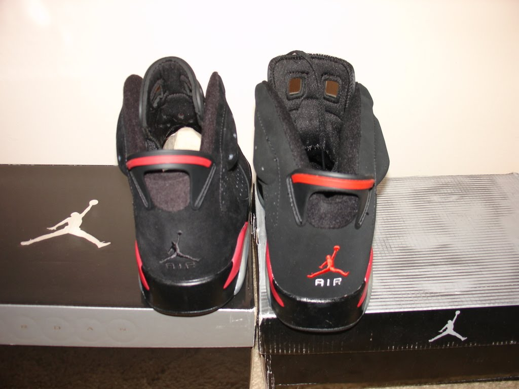 bd8b330ae29330 ... Comparison of 2010 Retro Air Jordan VIs to Counterfeit - Side by side  ...