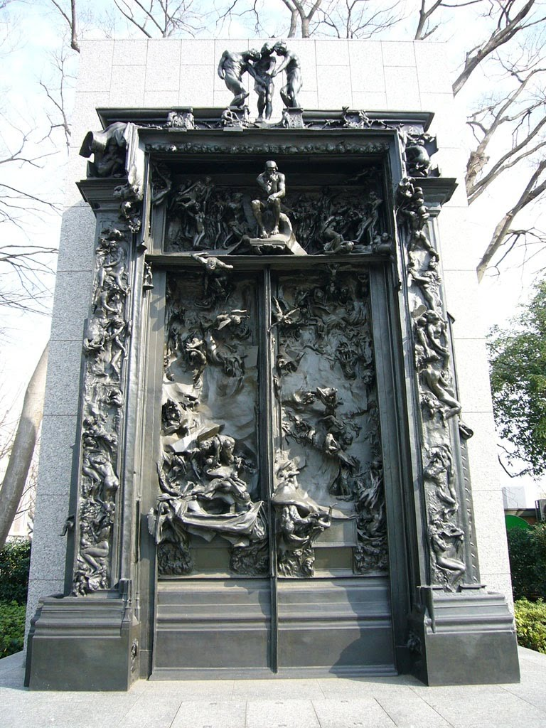 Dante s Divine Comedy  A Journey from Inferno to Paradise   La porte     La porte de l Enfer  The gates of Hell  is a monumental sculpture by  frenchman Auguste Rodin  It is 6m in height  4m in width and 1m in depth