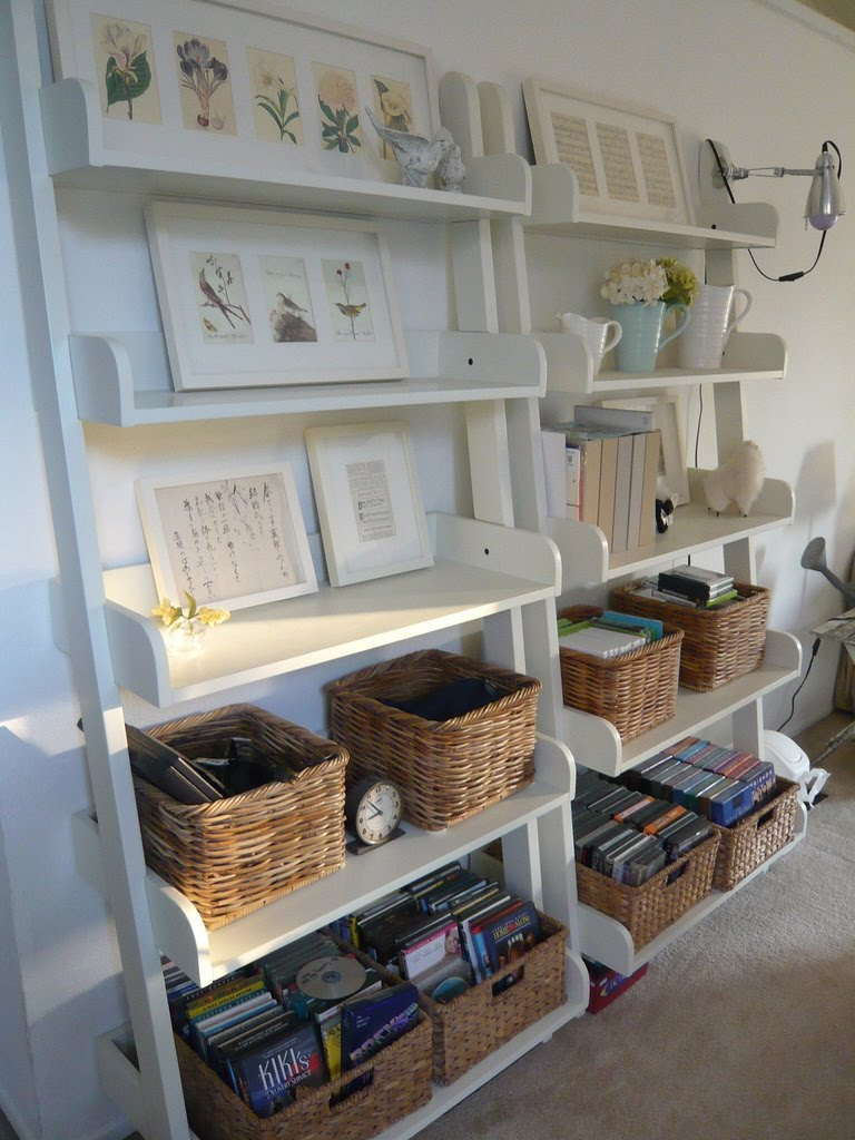 Iheart organizing april featured space living room - Open shelving living room ...