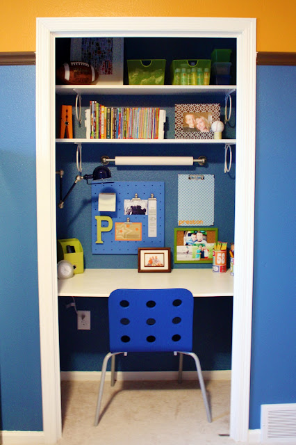 Closet turned homework station | Back to School: Coolest Learning Spaces