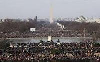 Crowds on the National Mall in Washington, DC (Reuters photo)