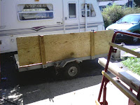 Trailer repair from the outside