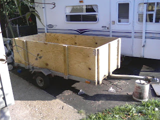 Trailer repair nearly complete