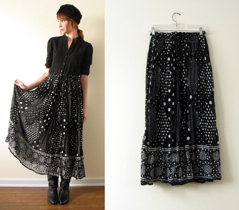 Black Broom Skirt 89