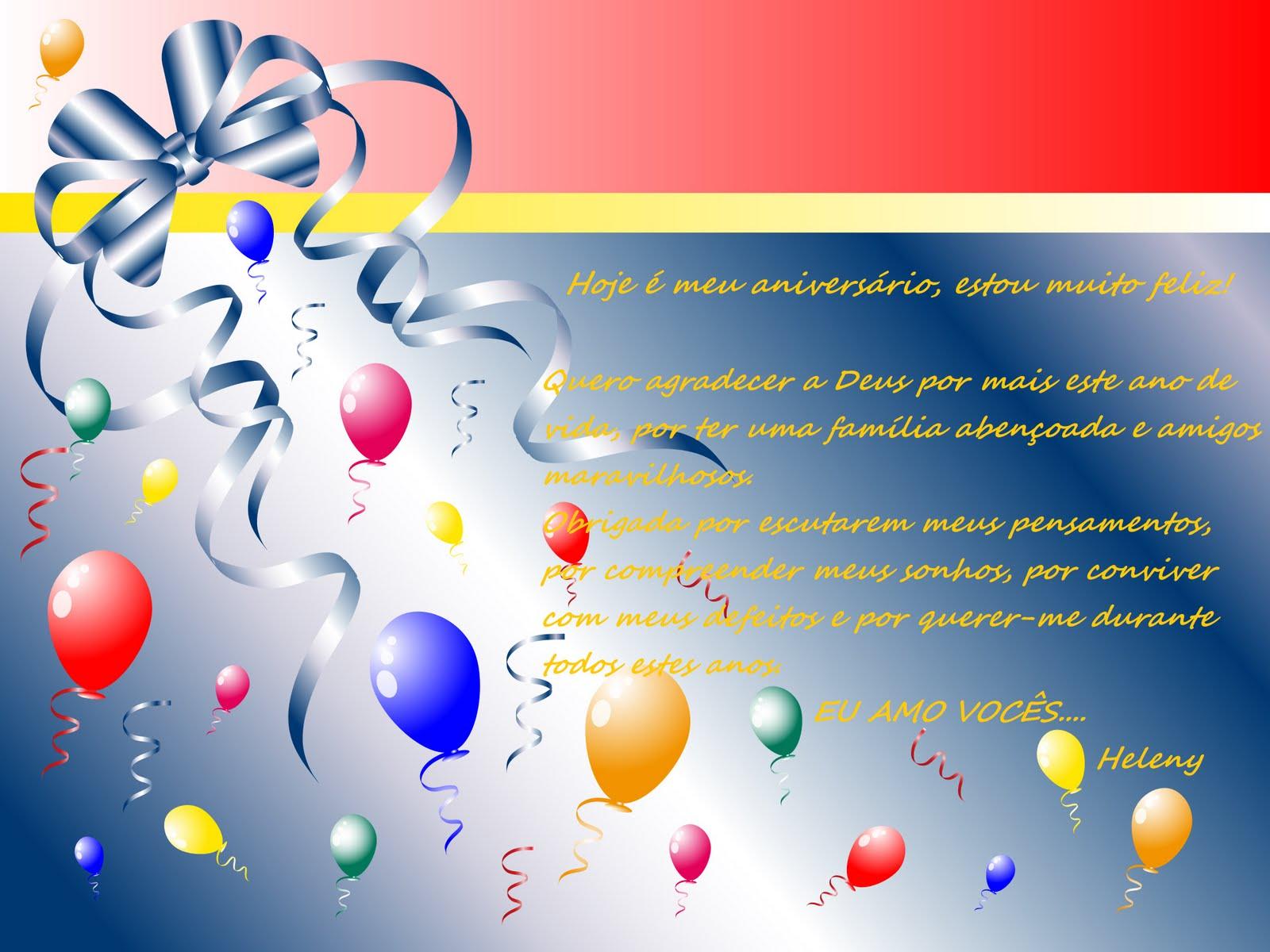 Mensagens De Aniversario Para Facebook: Linhas Com Carinho: Mensagem De Aniversário