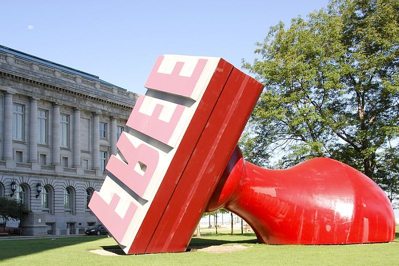 It s About Time Sculptor Claes Oldenburg b 1929