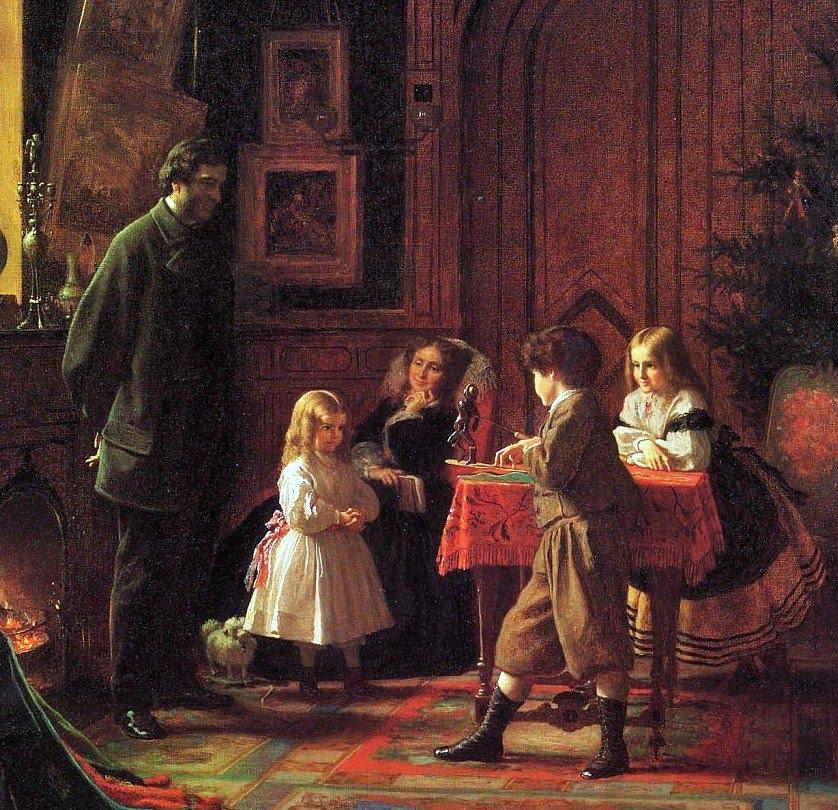 19C American Women: American Families by Eastman Johnson (1824-1906)