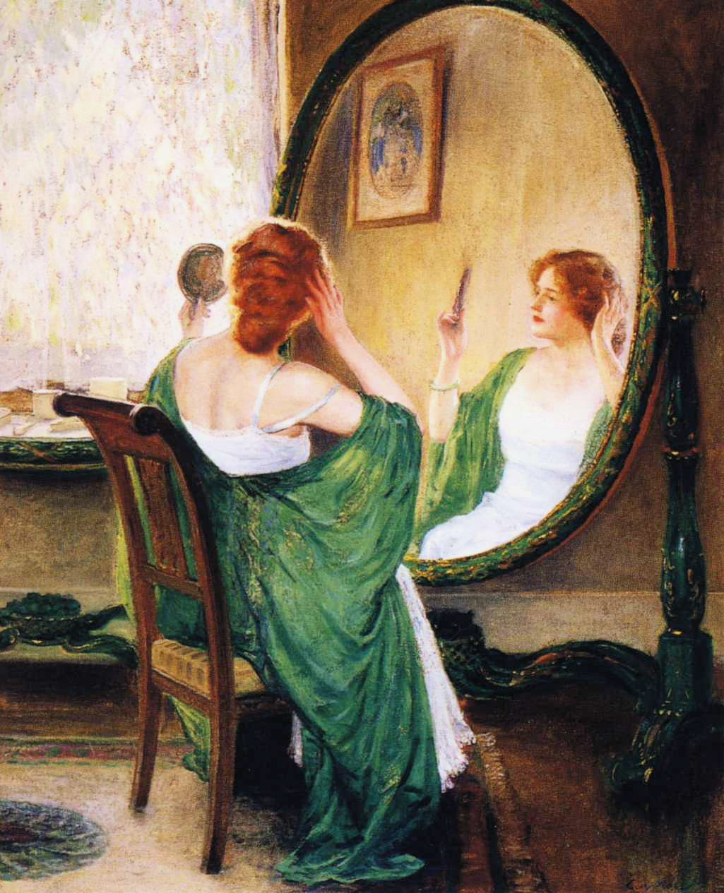 Image result for painting of a mirror