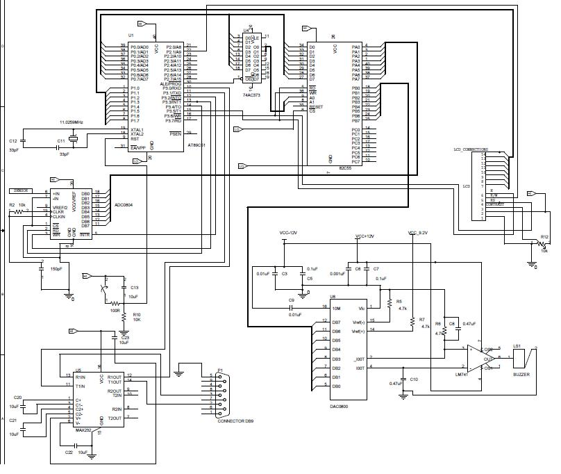 simple analog to digital converter schematic
