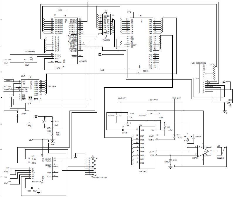circuit serial to lcd digital circuit