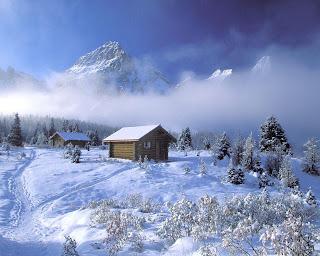 chalet, winter