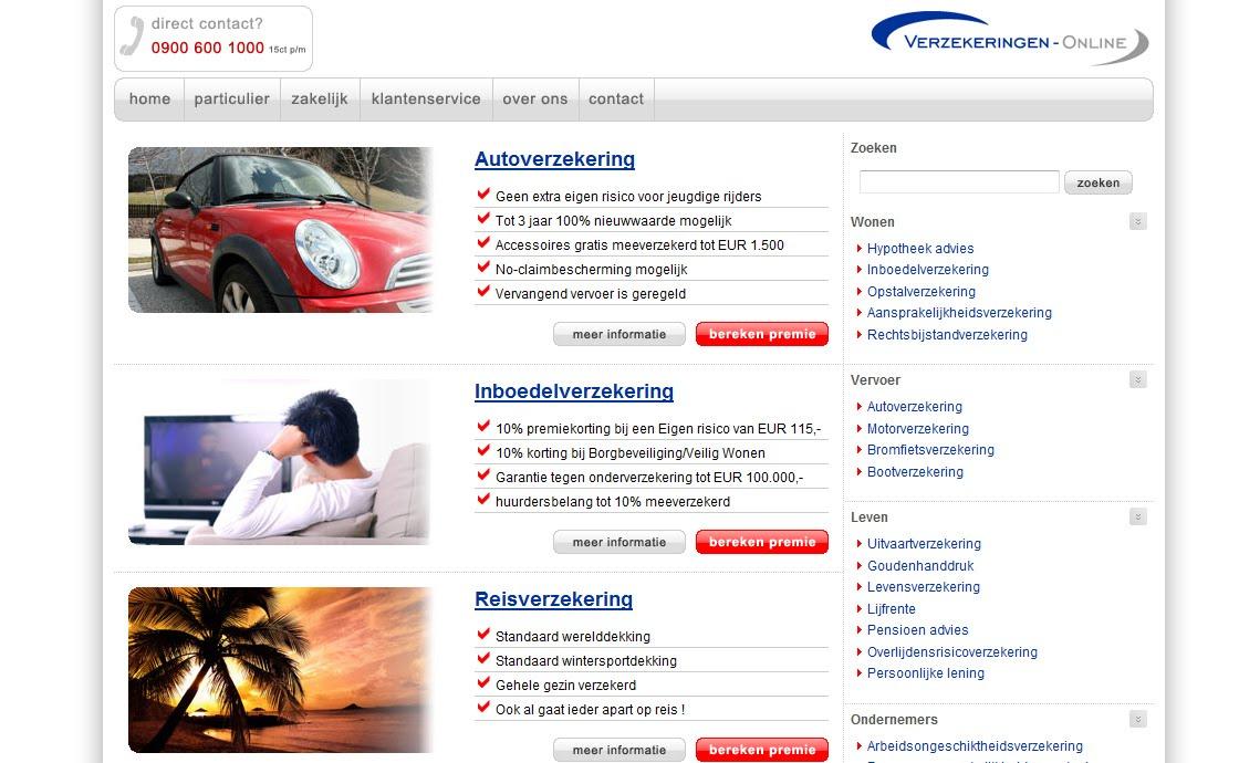 auto verzekering premie vergelijk