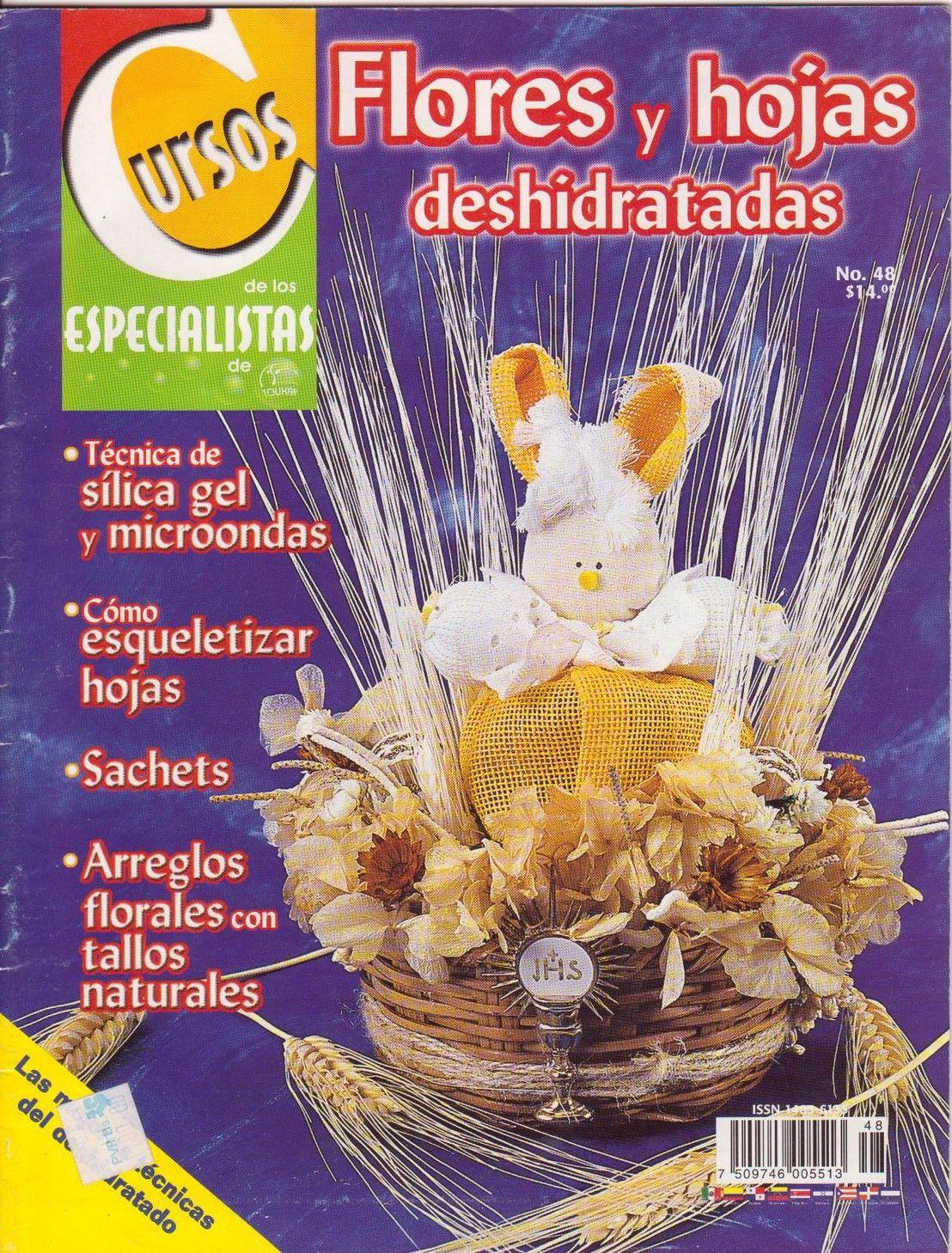 Revista: Cursos de los especialistas No. 48. Flores y hojas deshidratadas