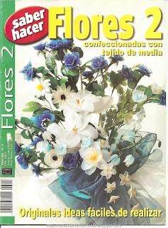Flores Nro. 2 Confeccionadas con tejido de media