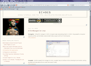 Echoes: 12 Web Browsers for Linux - Review