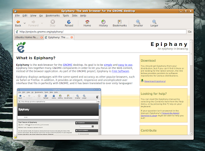 TuxArena Blog: Epiphany - GNOME Web Browser Review