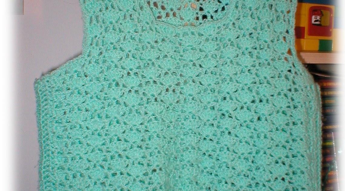 Laura Ivonne Creaciones Chaleco Verde Agua En Crochet
