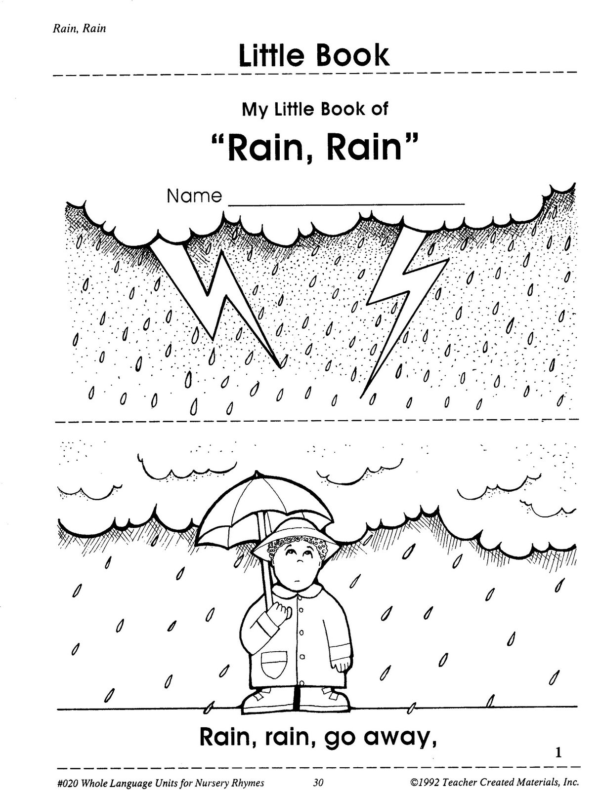Angol Feladatok Mondokak Szinez K Rain Rain Go Away
