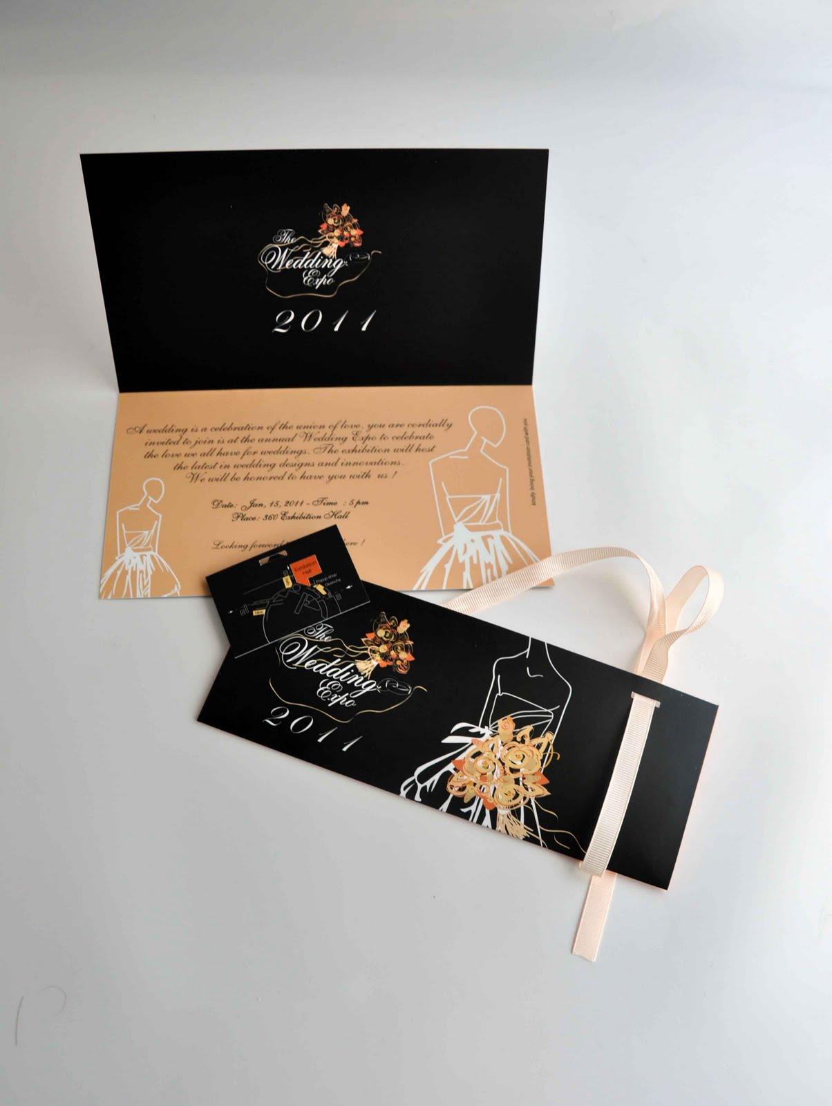 wedding expo invitation card + booklet | Mohamad jaafar
