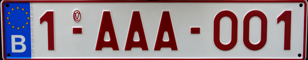 Belgian Licence Plates