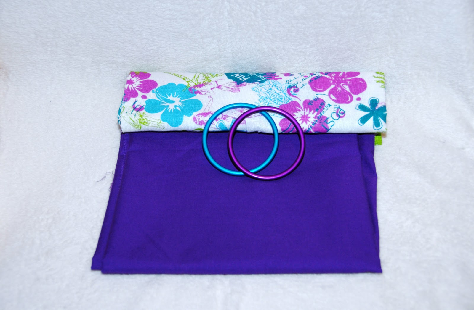 Aloha purple Cotton Ring Sling | Bella Sophia Carriers